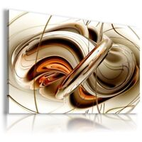 GOLDEN SPIRAL ABSTRACT CANVAS WALL ART PICTURE AB282  MATAGA