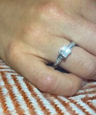 Beautiful Ernest Jones 18k white gold half carat diamond engagement ring