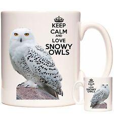 SNOWY OWL MUG, Keep Calm and Love Snowy Owls, Matching Coaster Available.