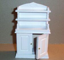 schöne Vitrine Buffet Schrank in weiss Miniatur 1:12 Puppenhaus