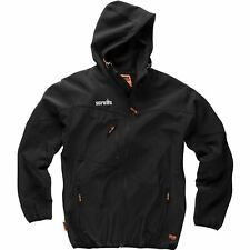 Scruffs Worker Softshell Black Jacket Men's Workwear Work Coat Fleece Lined