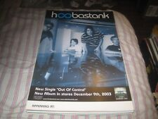 Hoobastank-(out of control)-1 Poster-11X17 Inches-Nmint-Rare!