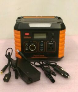 PAXCESS Portable Generator (330W, 78000mAh, Orange) w/ Power Cord/Adapter -Used-