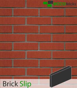 Brick Slips Cladding Decoration Brick Tiles Real Clay - Stalactite Red Eccobrick