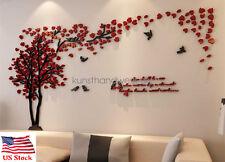 US Couple Tree 3D Wall Stickers Living Room Bedroom Mural Decals Decor Art DIY