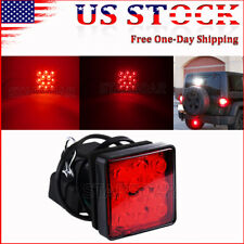 Red Lens 12-LED Brake Light Truck Trailer Hitch Cover Fit Towing & Hauling kit