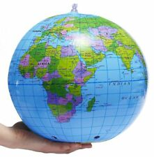 Globe terrestre gonflable – Ballon monde 30cm, jeu plage - Inflatable ball earth