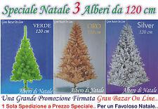 NATALE ALBERO ABETE SINTETICO cm. 120 OFFERTA 3 PZ STOCK   in PROMOZIONE