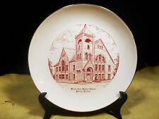 Vtg. Mount Zion Baptist Church Peoria, Illinois Souvenir Collector Plate  10 1/4