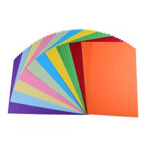 50 Blatt Fotokarton farbig sortiert, DIN A4, 10 verschiedene Farben, 22 g/qm