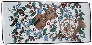 Violin & Horn Tapestry Piano Bench Cushion Pad Comfort