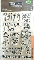 Happy Dad's Day Father Sentiments Clear Acrylic Stamp Set Hero Arts CL335 NEW!
