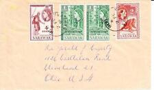 Sarawak SG#190,#188(x2)#189-MIRI 2/FE/59 to USA