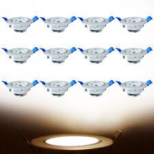 LED Einbaustrahler Einbau-Leuchten Lampe ultra-flach Decken-Spots 12x3W 230V Neu
