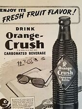 1945 Orange Crush Soda brown ribbed bottle fresh fruit flavor ad