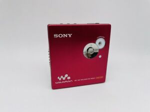 MD1614 Excellent  SONY NET MD WALKMAN MZ-NE810 G-PROTECTION TYPE-S  Red
