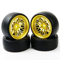 4Pcs a set For HSP HPI RC 1:10 On Road Car 12mm Hex Drift Tires Wheel Rim