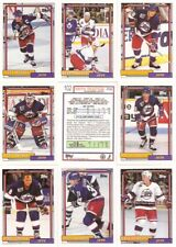 1992-93 Topps Winnipeg Jets Complete Team Set (25)