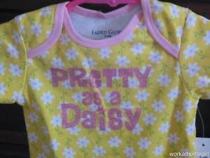 NWT/Faded Glory Infant Girls Bodysuit/3-6 Mos/PRETTY AS A DAISY/Colorful/Cute!