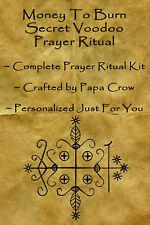 Money To Burn Voodoo Prayer Ritual Kit Rich Life Wealth Spots Car Mansion Travel