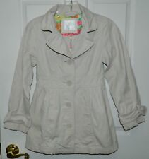 JUSTICE girls Light Khaki Tan Long BUTTON FRONT JACKET* 10
