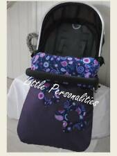 icandy mamas/papas universal purple flower stay put pram blanket/footmuff