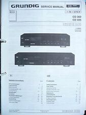 Service Manual Grundig CD 360/435 CD-Player,ORIGINAL
