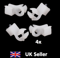 4 x Car Door Hole Door Lock Fastener Rod Clip White