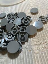 100 LOT Lego Round 2x2 Light Bluish Grey Flat Tiles Smooth 100% Authentic Floor