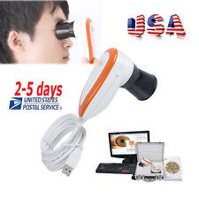 5.0 USB Iriscope Iris Analyzer Iridology Camera Pupilometer+Pro Software+Case CE