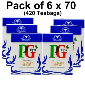 PG Tips The Tasty Decaf Black Decaffeinated Tea Breakfast Catering Pack 420 Bags