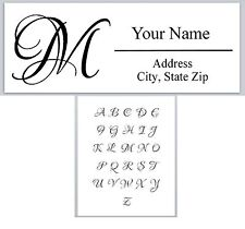 30Personalized Address Labels Monogram Buy 3 get 1 free (ac 613)
