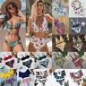 2020 Women Floral High Waist Bikini Push up Padded Swimwear Beachwear Swimsuit