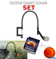 Deeper Smart Sonar Pro + Plus Zubehör SET + Flexarm Echolothalter & Night Cover