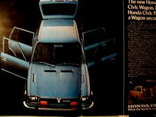 "1975 Honda Civic Wagon 2 Page Original Print Ad 9 x 11"""