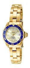 Invicta Women's Pro Diver 200m Quartz Gold Plated Stainless Steel Watch 14126