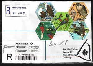 Namibia Cover - Pelican Square 28.08.2007 R Vögel 5 x SAPOA Stamps Birds Eagle