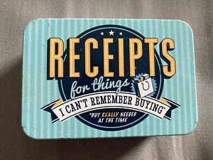 Receipts Tin