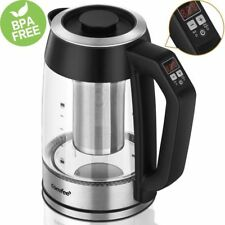 Comfee Temperature Control Glass Electric Tea Kettle with Tea Infuser - BPA Free