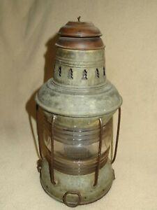 Nautical Marine Kerosene Lamp Lantern Round Clear Globe