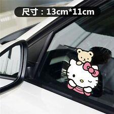 Cute Hello Kitty with Bear on Head Car Decal Car Sticker - 1pc