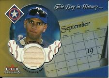 2002 Fleer Tradition Update This Day In History Game Used Bat Alex Rodriguez
