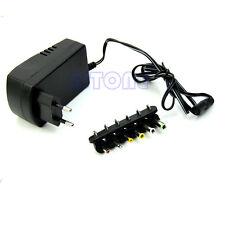 EU Plug Universal AC/DC Adaptor Power 3V 4.5V 5V 6V 7.5V 12V DC Charger Hot!!