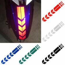 Motorcycle Reflective Stickers Wheel on Fender Waterproof Warning Arrow Tape Ca
