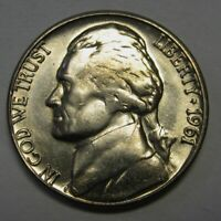 1961-D Jefferson Nickel Grading Choice BU Nice Coin Priced Right Shipped FREE