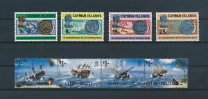 LO13158 Cayman Islands old coins boats sailing ships fine lot MNH