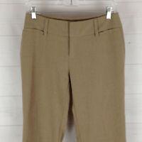 AB Studio womens size 2 stretch beige flat front mid rise straight dress pants
