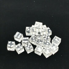 19mm Right Angle Transparent Casino Craps Dice Grade  Clear 5Pcs