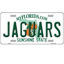 """Jacksonville Jaguars State Background Novelty Metal License Plate 6"""" x 12"""""""