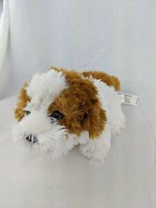 """FAO Dog Plush 5"""" Toys R Us 2015 Brown White Stuffed Animal Toy"""